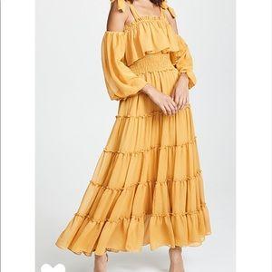 Misa Los Angeles Carmela Ballon Sleeve Maxi Dress